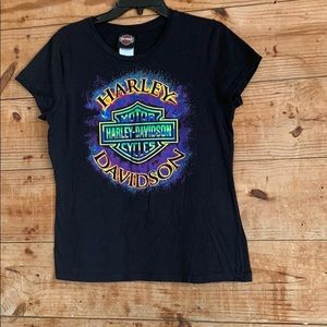 Harley Davidson Lubbock Tx graphic T-shirt